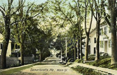 Main Street, Damariscotta, ME, circa 1907